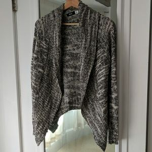 BDG Marbled Black/White Flowy Cardigan Sweater